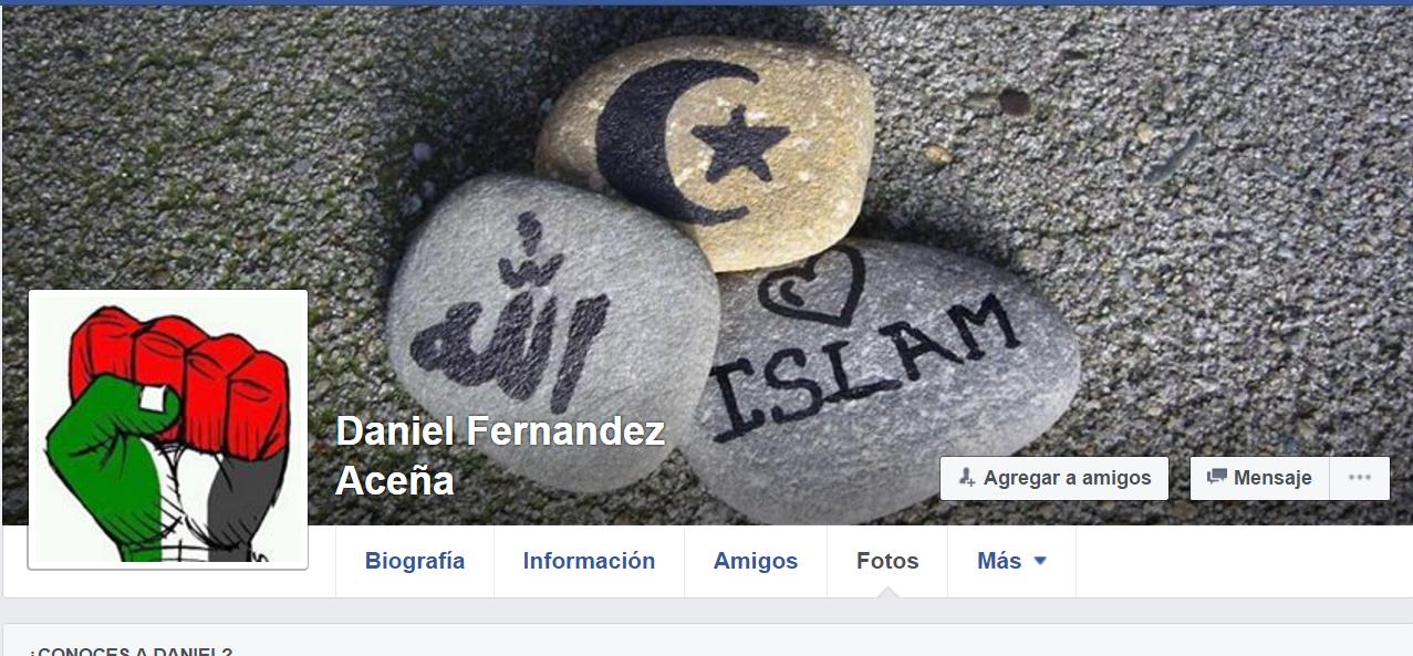 Perfil de Facebook del detenido, Daniel Fernandez Aceña.