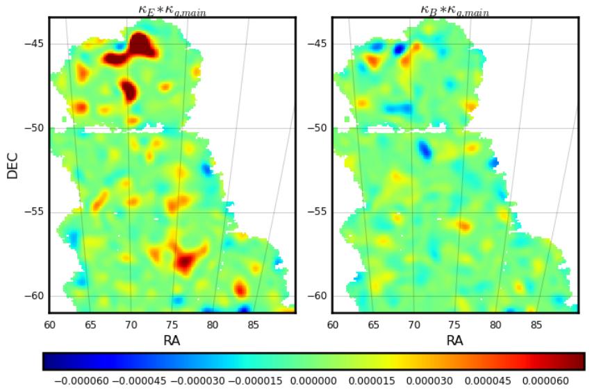 Mapa de la materia oscura de 2015