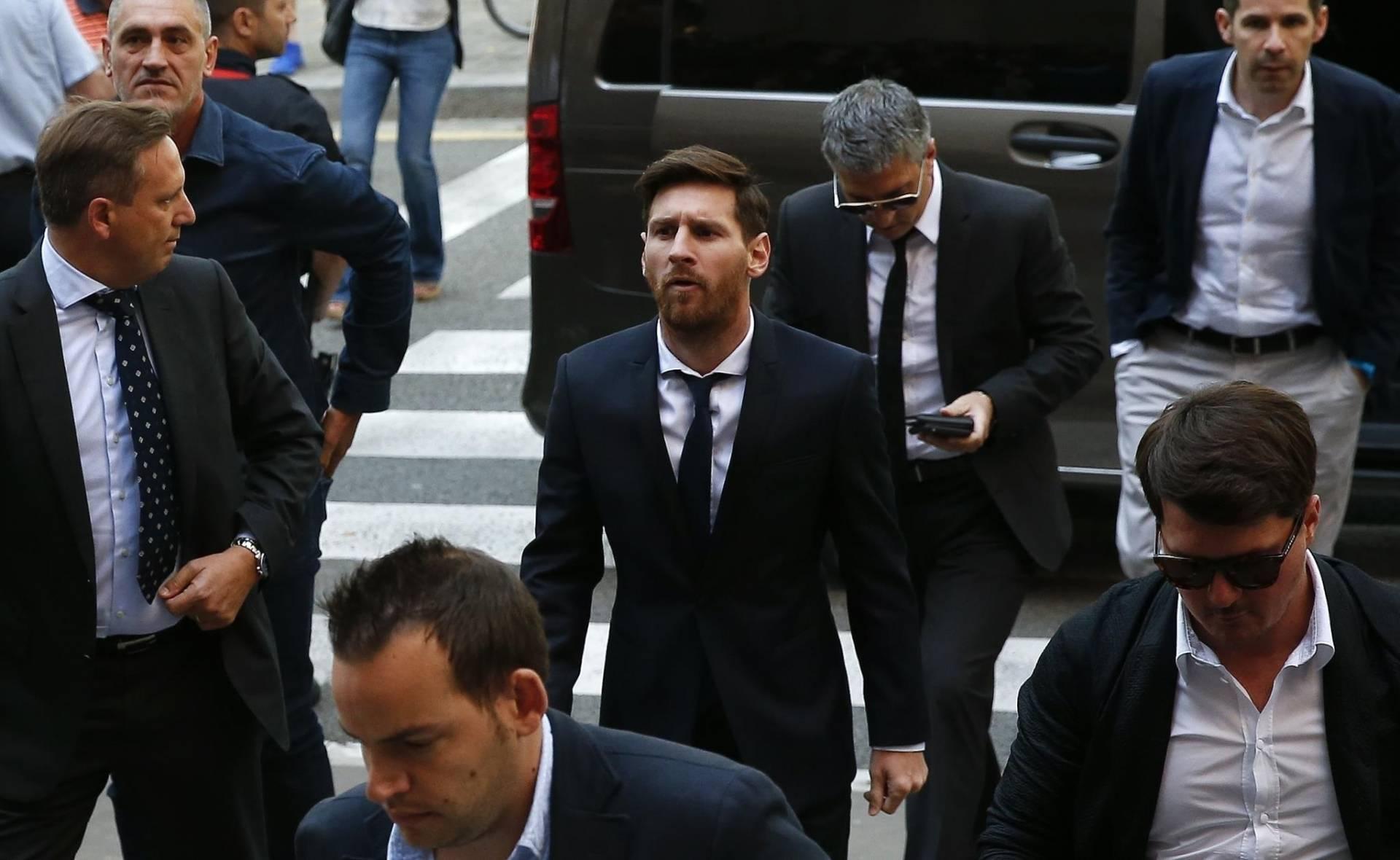 El jugador del FC Barcelona, Lionel Messi, a su llegada a los juzgados.