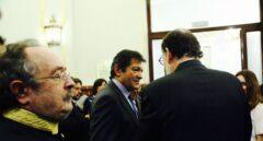 Javier Fernández, junto al presidente del Gobierno, Mariano Rajoy.
