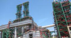 Vista de una refinería de Repsol