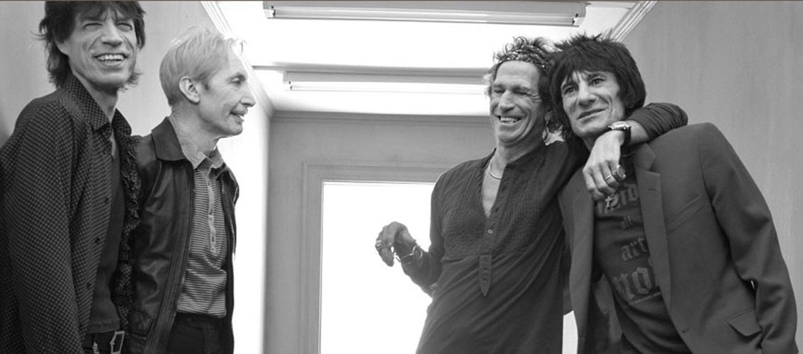 Mick Jagger, Charlie Watts, Keith Richards y Ron Wood, los cuatro miembros oficiales de los Rolling Stones.