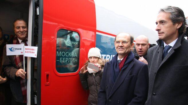 De la Serna, en la inauguración de la conexión ferroviaria directa Moscú Berlín con trenes Talgo.