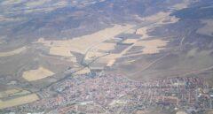 Vista aérea del municipio madrileño de Torres de la Alameda, donde se asentará '!Live Resorts Madrid'.