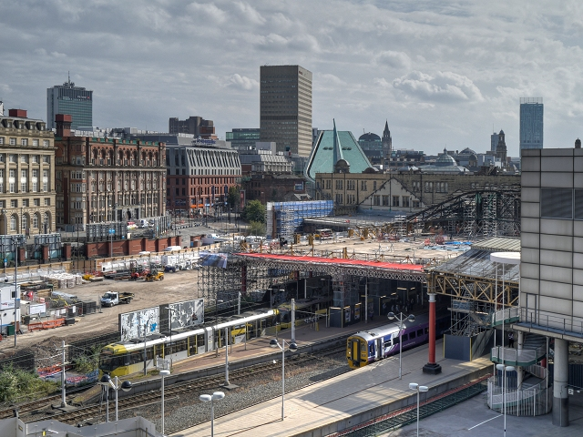 Vías de acceso a Victoria Station, en Londres.
