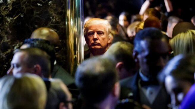 El presidente de EEUU, Donald Trump, ante la prensa en Nueva York.