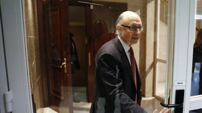 Cristóbal Montoro, este jueves en el Congreso de los Diputados.