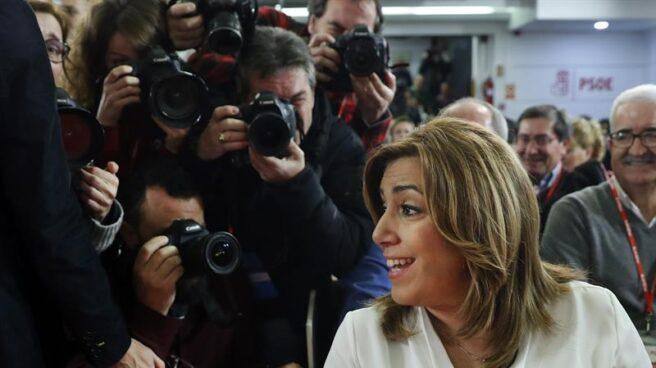 Susana Díaz, a su llegada al Comité.