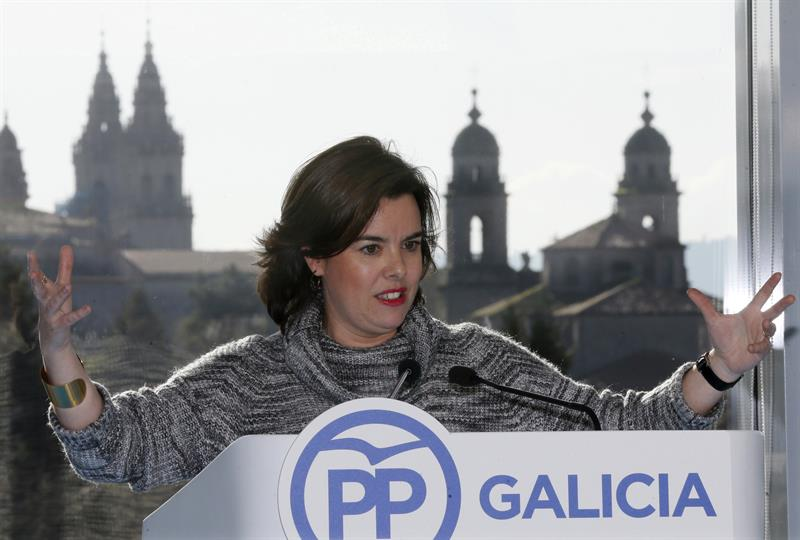 Soraya Sáenz de Santamaría, en Santiago de Compostela.