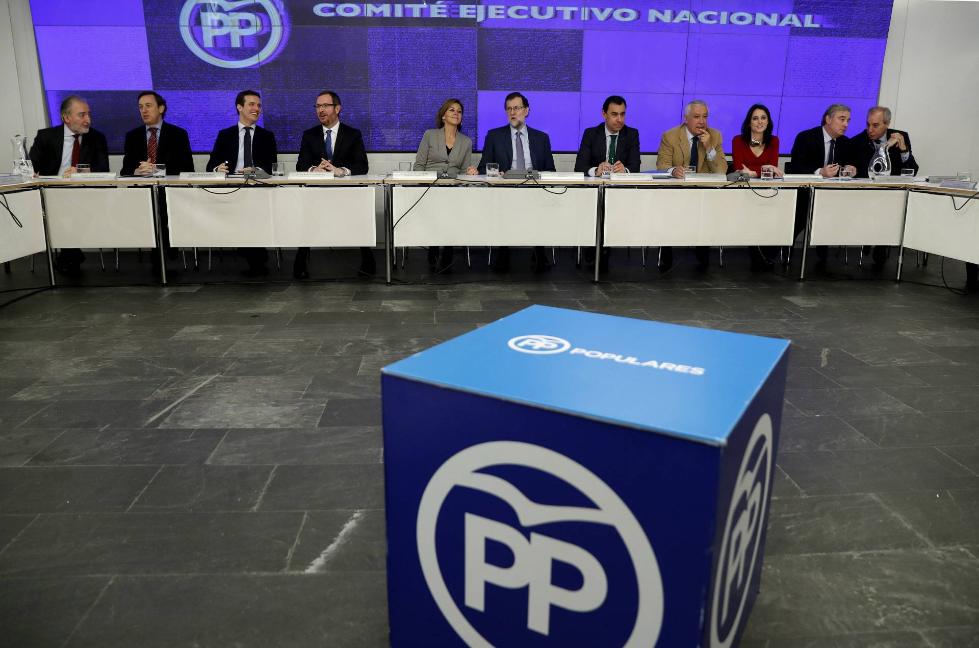 Reunión de la ejecutiva del Partido Popular, este lunes.