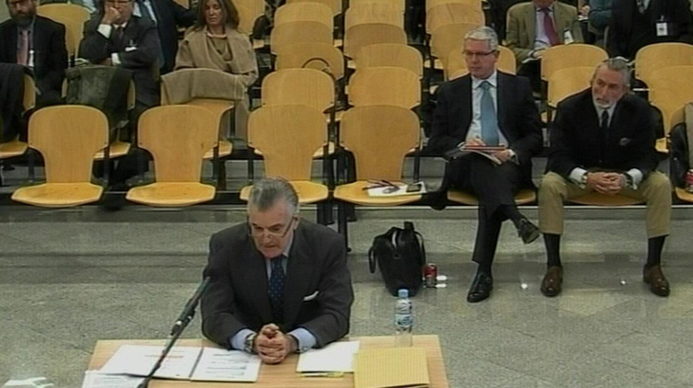 Luis Bárcenas, durante una de sus declaraciones en el juicio de Gürtel.