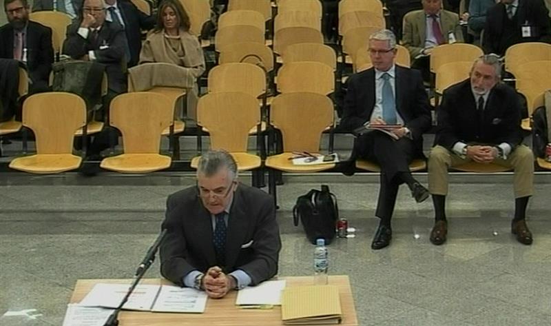 Luis Bárcenas, durante su declaración.