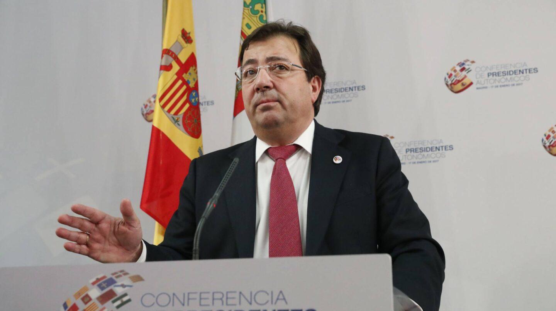 El presidente de Extremadura, Guillermo Fernández Vara, durante la VI Conferencia de Presidentes Autonómicos.