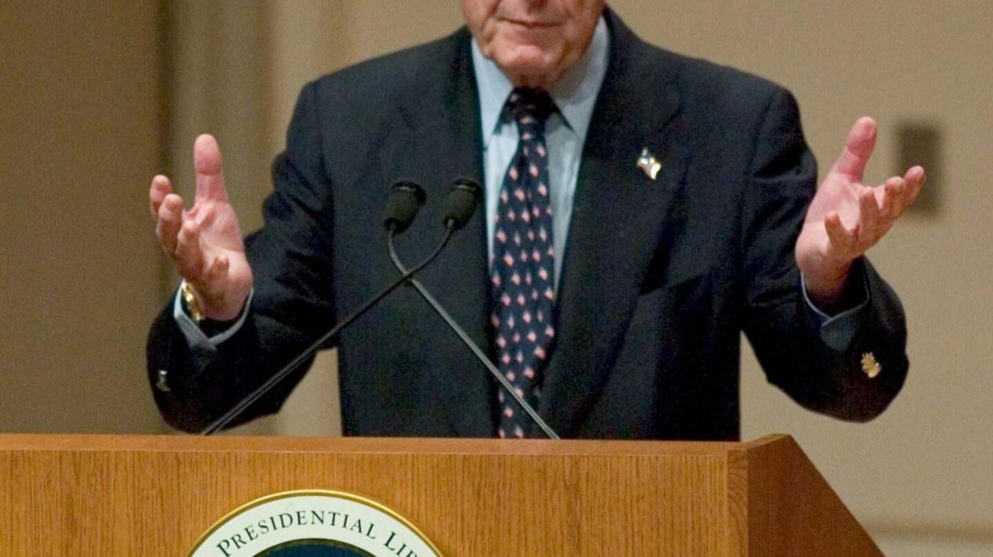 El ex presidente George H. W. Bush.