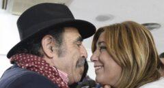 Cecilio Lera, alcalde de Castroverde de Campos (Zamora), en un acto en Palencia junto a Susana Díaz.
