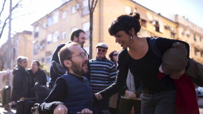 Pablo Echenique y Teresa Rodríguez, en Córdoba.