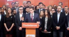 Albert Rivera, junto a su equipo en Ciudadanos.