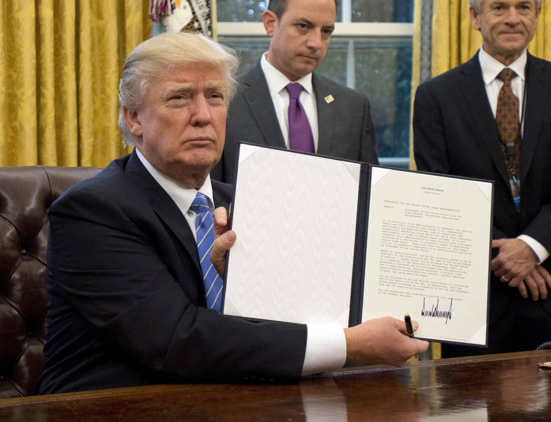 Donald Trump, en el despacho oval de la Casa Blanca.