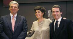 El presidente Fundación Villacisneros, Iñigo Gómez-Pineda Goizueta, María San Gil y José María Aznar.