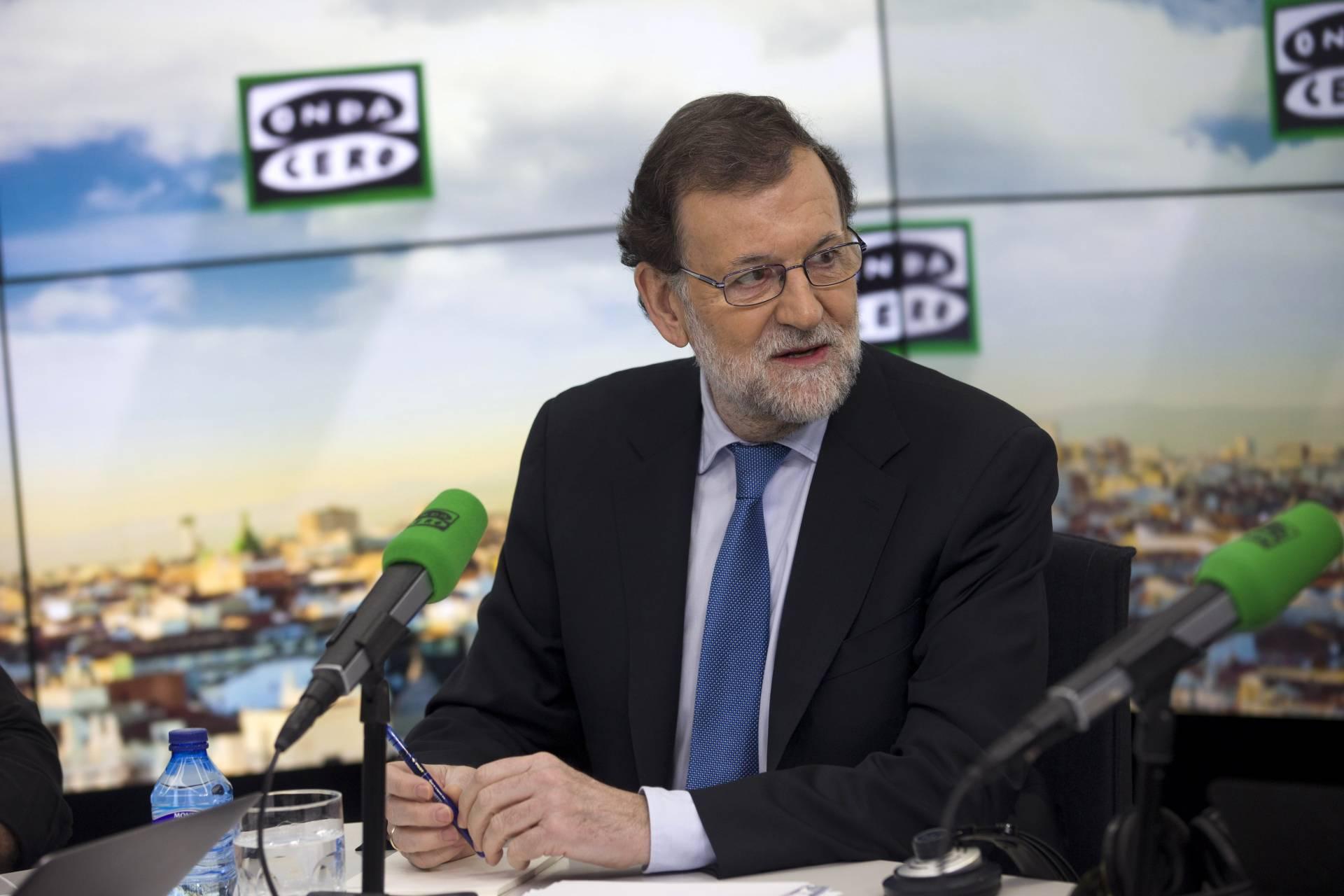 El presidente del Gobierno, Mariano Rajoy, durante su entrevista en Onda Cero.