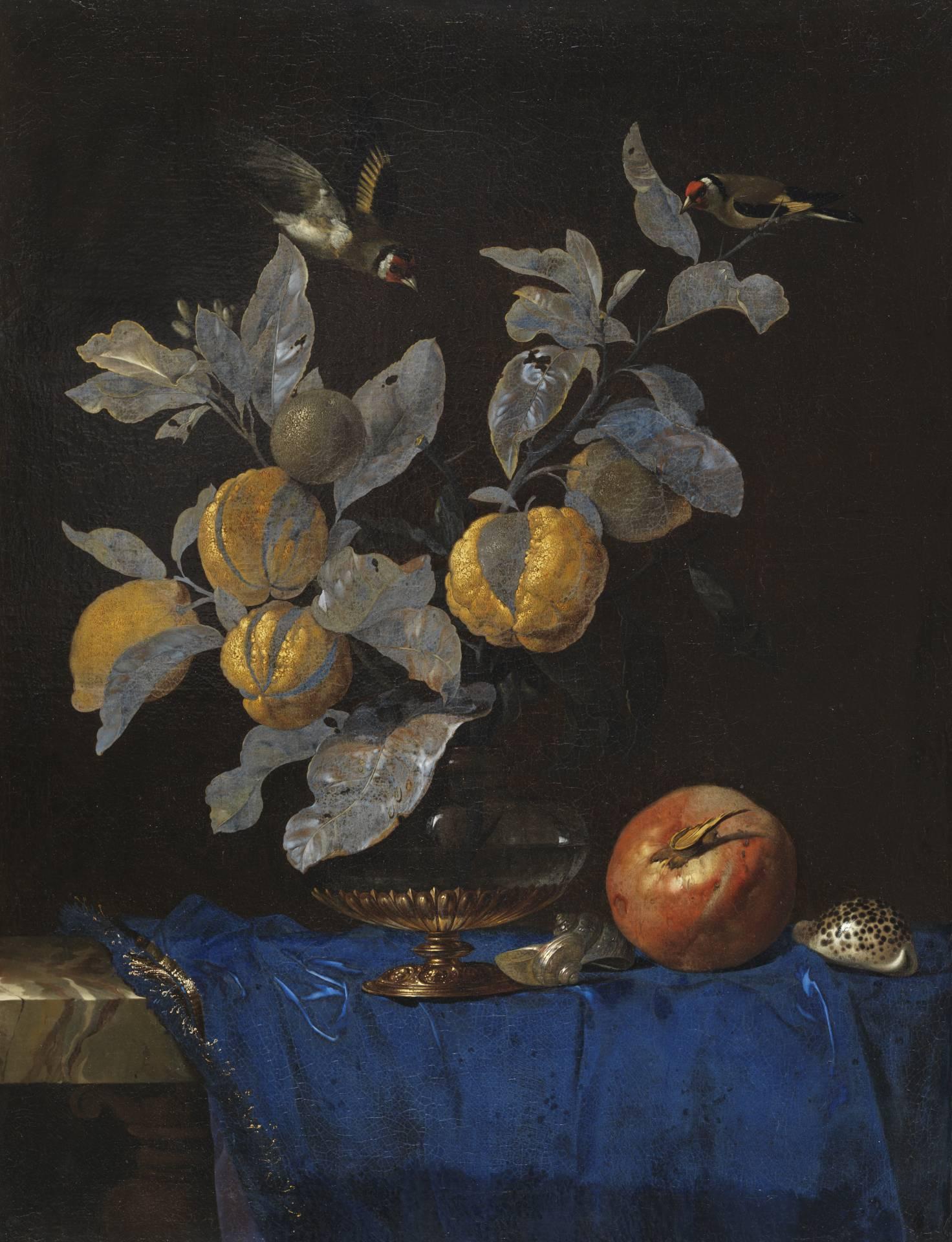 Un bodegón de frutas de Willem Van Aelst en el Thyssen Bornemisza.