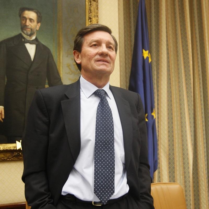 Antonio Gutiérrez, en el Congreso durante su etapa como diputado socialista.