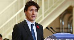 El primer ministro de Canadá, Justin Trudeau, durante una comparecencia ante los medios.