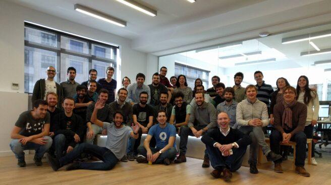 El equipo de CARTO, en la sede de la compañía en el centro de Madrid.