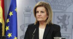 La ministra de Empleo, Fátima Báñez, en rueda de prensa tras el Consejo de Ministros.