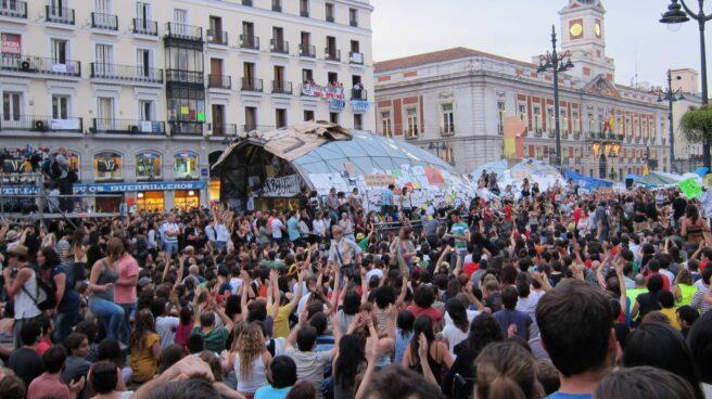 Concentración del 15M en Madrid.