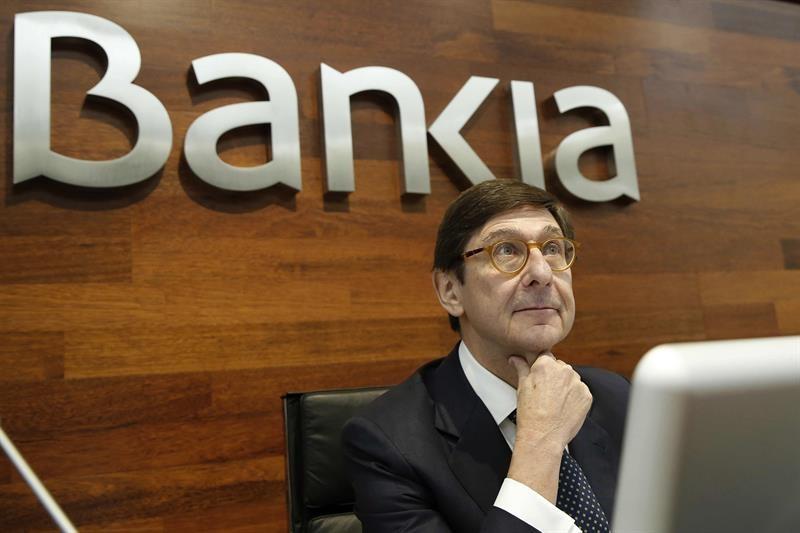 El presidente de Bankia, José Ignacio Goirigolzarri, en un acto de la entidad.