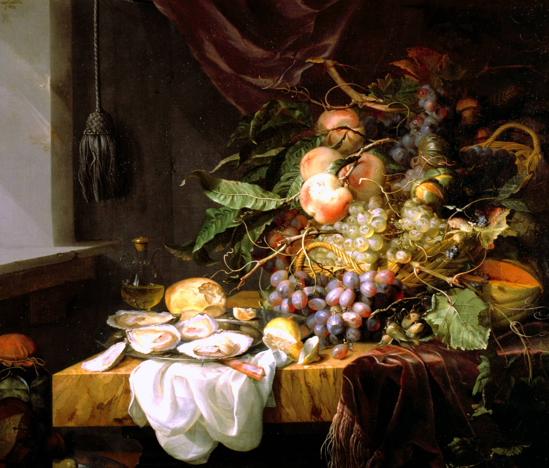 Bodegón de Jacob van Walscapelle en el Museo Lázaro Galdiano.