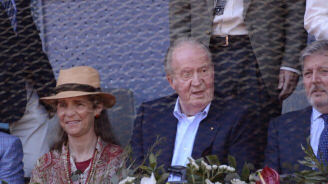 Juan Carlos I, durante el Mutua Madrid Open 2016.