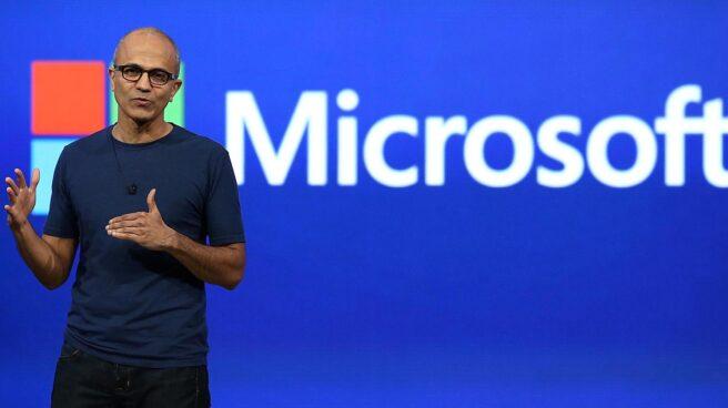 El CEO de Microsoft, Satya Nadella, durante un acto de la compañía.