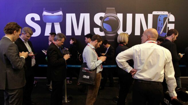 Colas ante el evento de Samsung durante el pasado Mobile World Congress de Barcelona