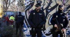 Miembros de la Policía Nacional, durante la ejecución de la operación Serkan.