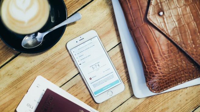 La aplicación de Uber en un smartphone.