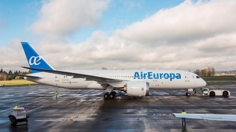 Un avión de la compañía Air Europa.