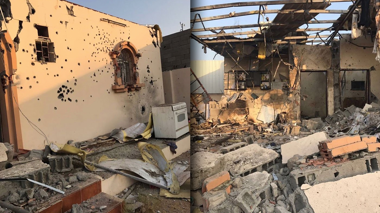 Imágenes de la vivienda en la que se inmolaron los terroristas en Yeda.