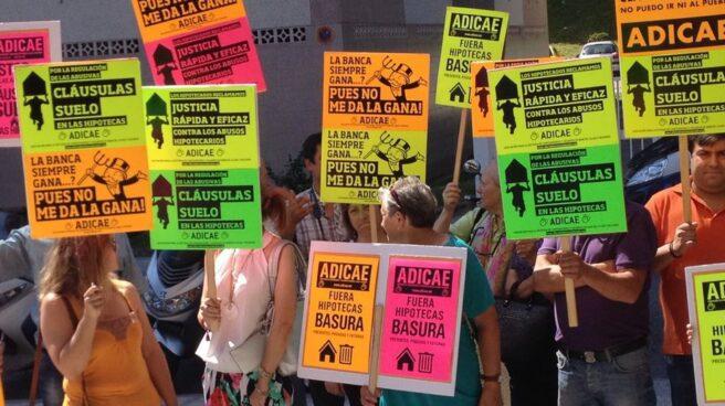 Protesta por la cláusulas suelo.