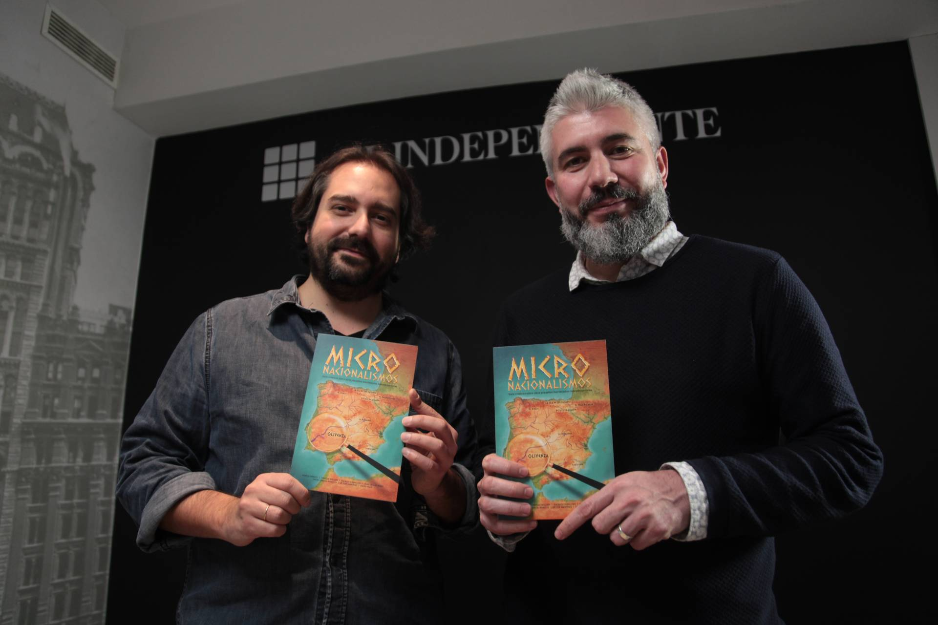 Los periodistas de El Independiente, David García-Maroto y David Page.