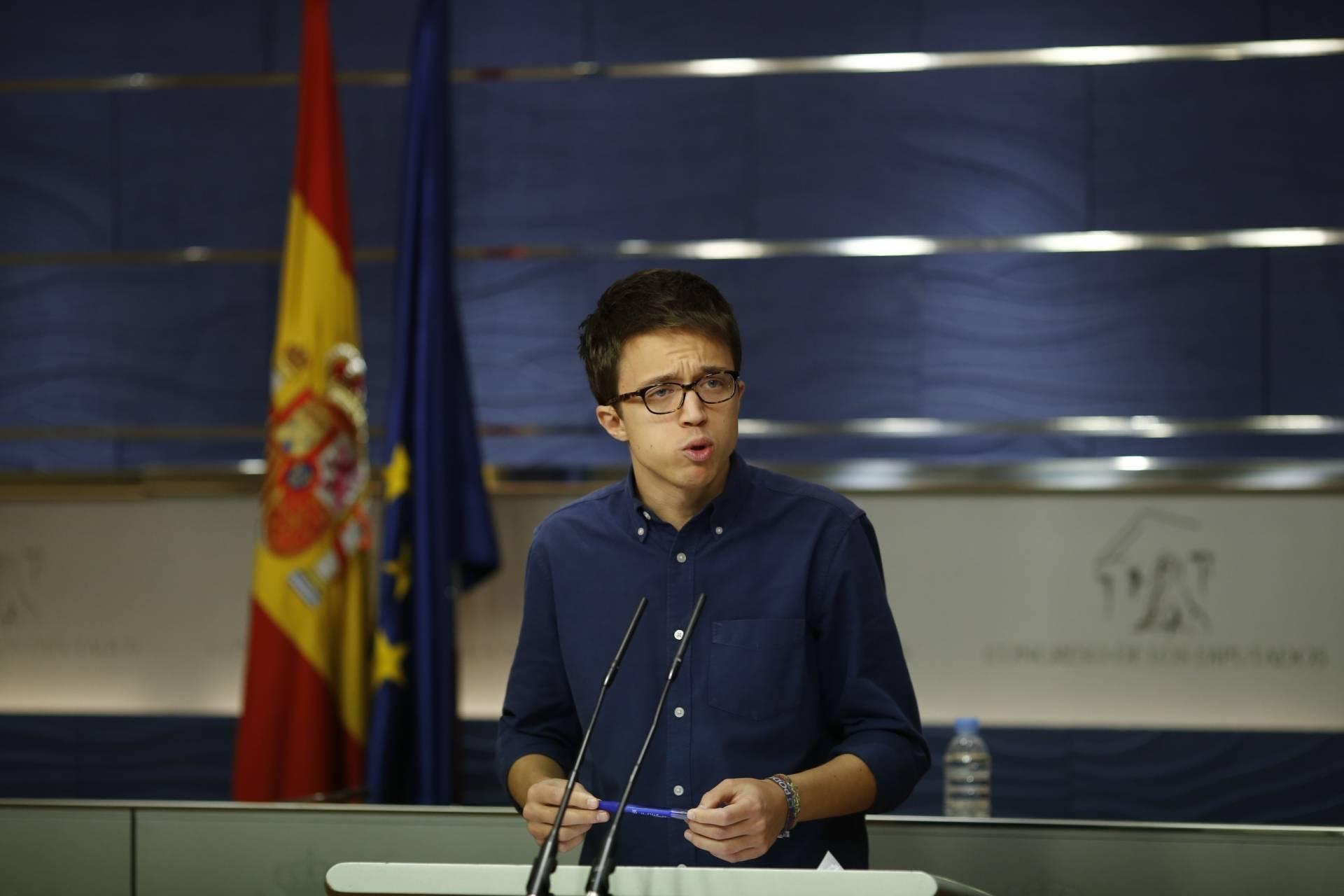 El secretario Político de Podemos, Íñigo Errejón.