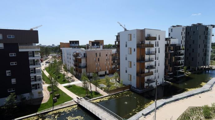 Eco-barrio de Bouygues en Burdeos, apodado 'Ginko'.