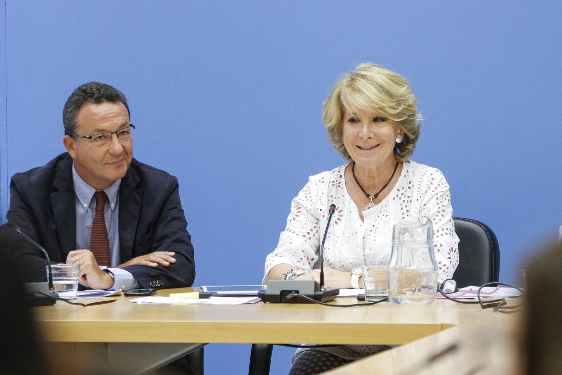 Íñigo Henríquez de Luna y Esperanza Aguirre.