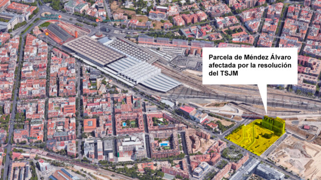 Parcela de la zona de Atocha-Méndez Álvaro afectada por la sentencia.