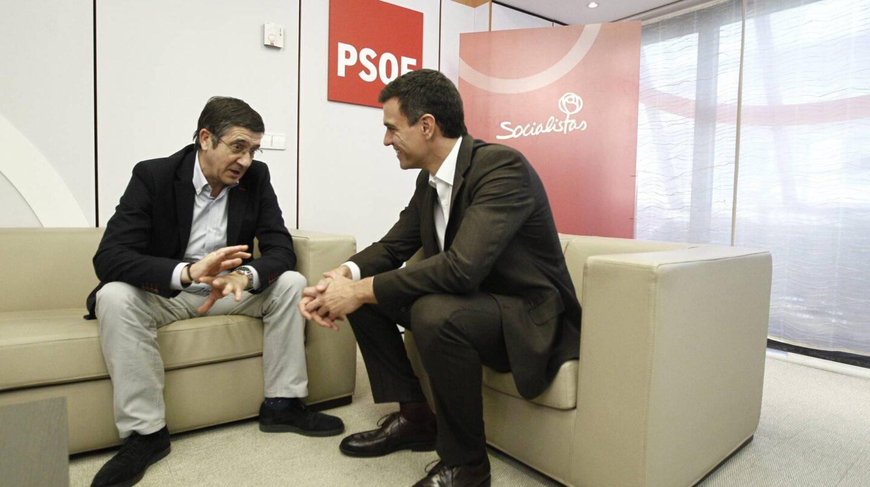 Patxi López y Pedro Sánchez.