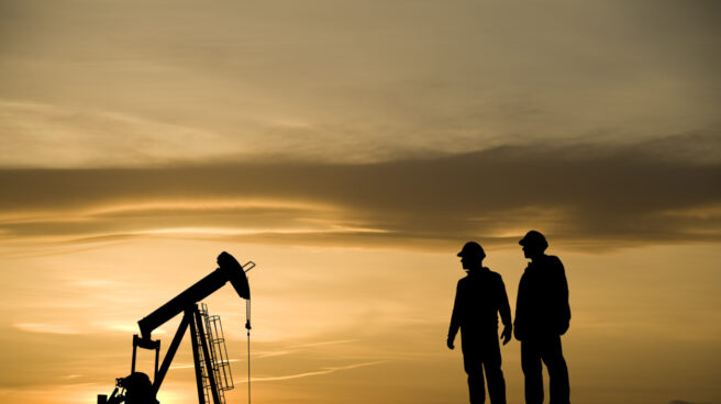 Un pozo de extracción de petróleo.
