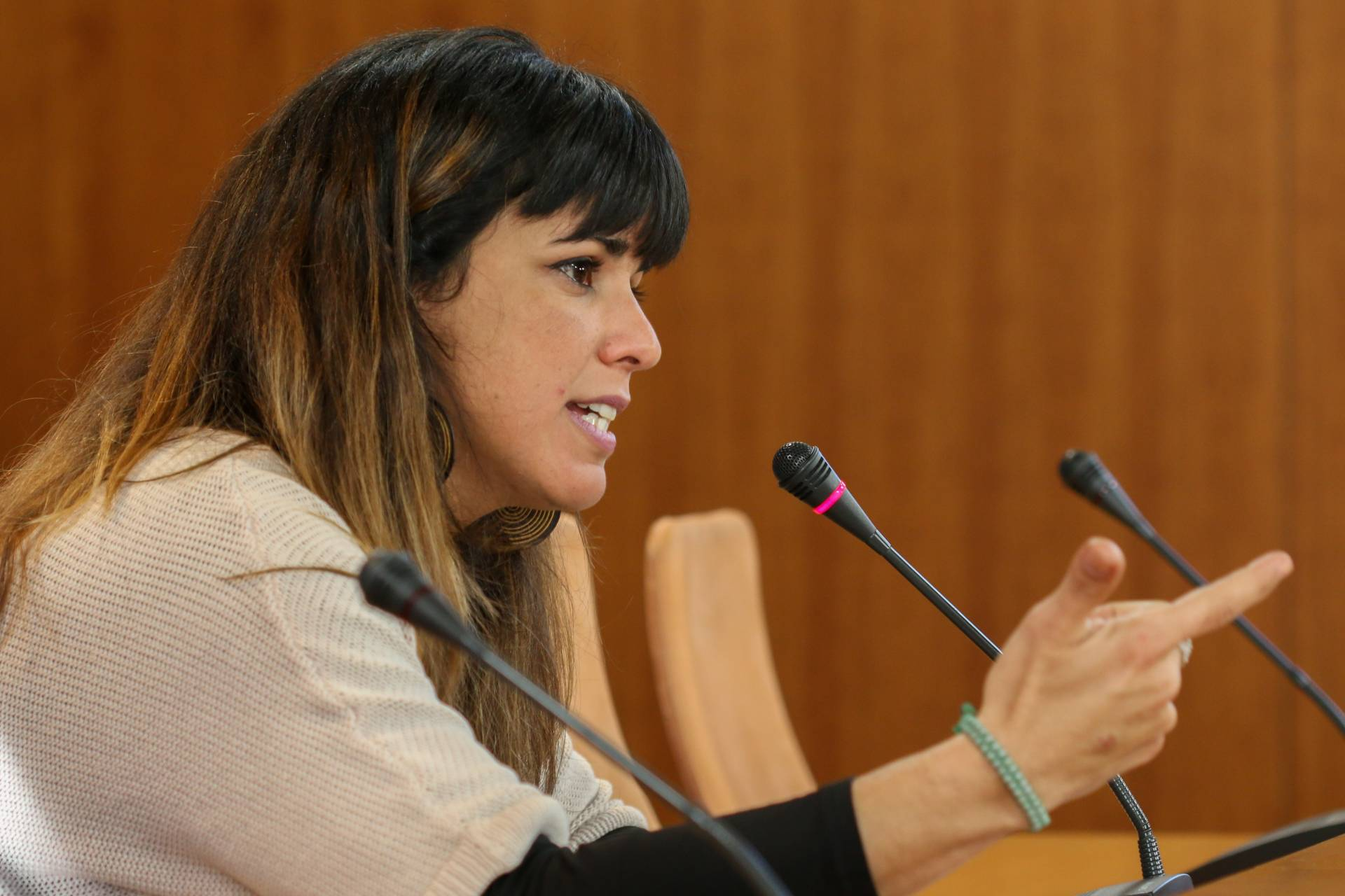 Teresa Rodríguez, secretaria general de Podemos Andalucía.