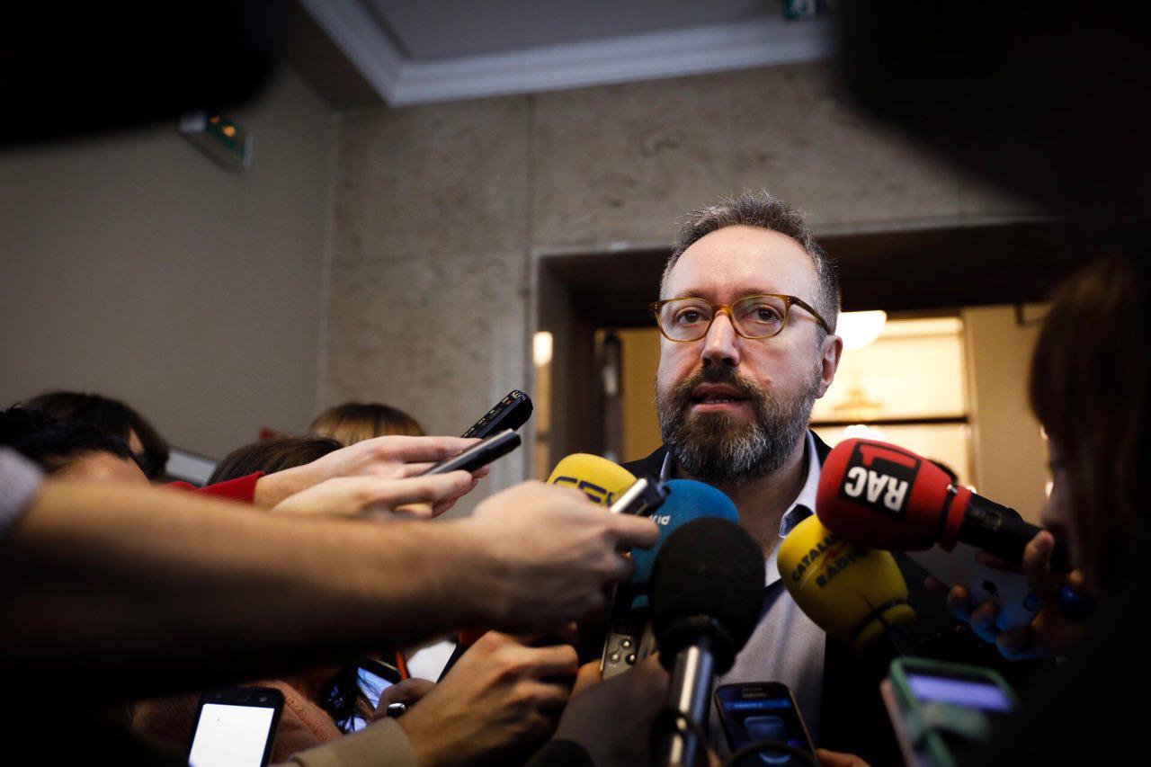 El portavoz de Ciudadanos en el Congreso de los Diputados, Juan Carlos Girauta.
