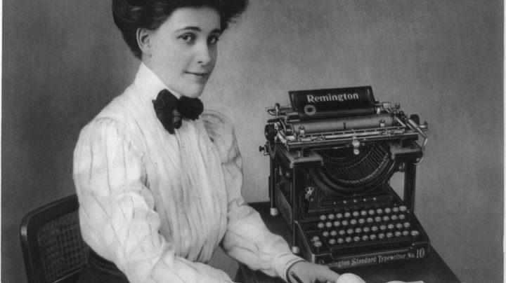 Antiguo modelo de la máquina de escribir Remington.